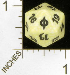 Spindown Dice (D-20) - New Phyrexia (White)