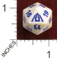 Spindown Dice (D-20) - Dragon's Maze - Azorius (Blue/White)