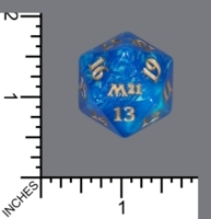 Spindown Dice (D-20) - Core Set 2021 (JUMBO Blue w/Gold)