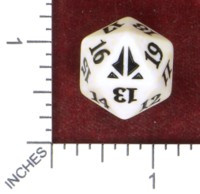 Spindown Dice (D-20) - Oath of the Gatewatch (White)