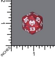 Spindown Dice (D-20) - Kaldheim (Red)