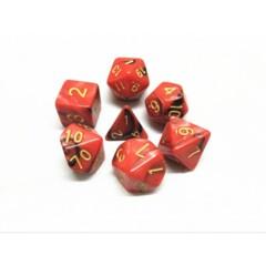 Red Black 7 Die Dice Set (B25)