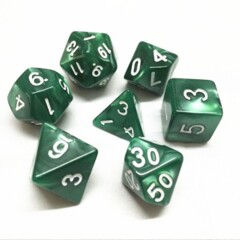 Green Pearl 7 Die Dice Set (D30)
