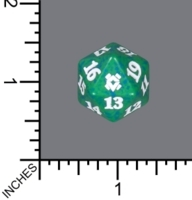 Spindown Dice (D-20) - Zendikar Rising (Green)