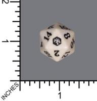 Randomized Non Spindown Dice (D-20) - Adventures in the Forgotten Realms (White)