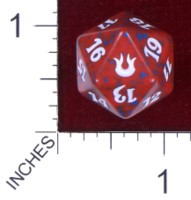 Spindown Dice (D-20) - Born of the Gods (Red)