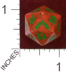 Spindown Dice (D-20) - Gatecrash - Gruul (Green/Red)
