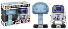 2017 SDCC Exclusive Funko Pop! Star Wars: Holographic Princess Leia & R2-D2
