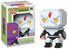 2017 NYCC Exclusive Pop! - 8-Bit: TMNT Foot Soldier (White)