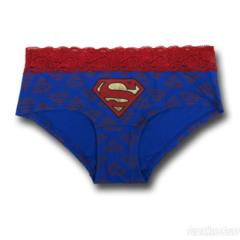 Superman Lace/Foil Panty