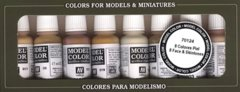 Vallejo Miniatures Paint: Face & Skin Tones, Set of 8