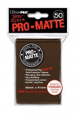 Ultra Pro Sleeves - Pro Matte Brown (50 ct.)