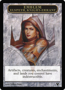 Emblem Elspeth, Knight-Errant // Soldier Token  (Double-Faced)