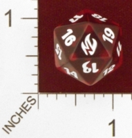 20 Sided Spindown Die - Premium Deck Series: Fire & Lightning on Channel Fireball