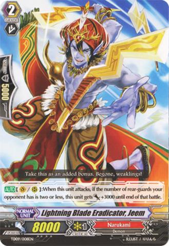 Lightning Blade Eradicator, Jeem - TD09/008EN