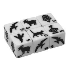Monster Rocks - Token Dice (White - Pack of 6)