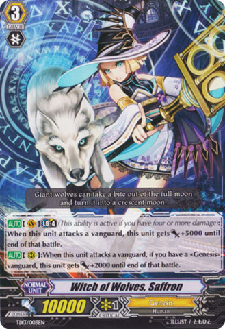 Witch of Wolves, Saffron TD13/003EN