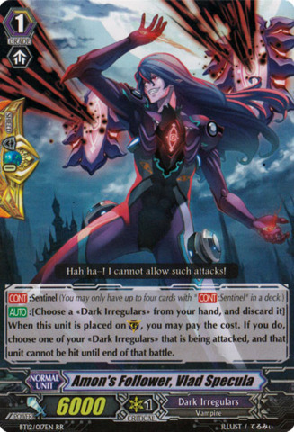 Amon's Follower, Vlad Specula - BT12/017EN - RR