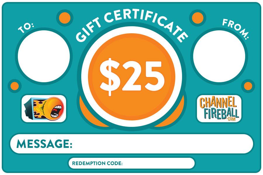 $25 Gift Certificate [Digital]