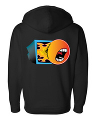 ChannelFireball Zip-up Hoodie (Sweatshirt) - Black on Channel Fireball