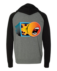 ChannelFireball Zip-up Hoodie (Lightweight) - Gray on Channel Fireball
