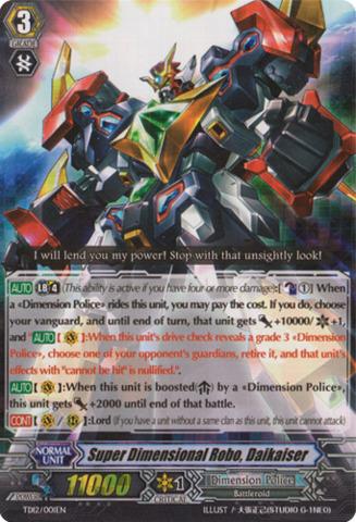 Super Dimensional Robo, Daikaiser TD12/001EN