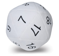 84949 - Ultra PRO Jumbo D20 Plush Dice on Channel Fireball