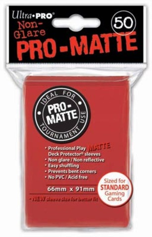 Ultra Pro Sleeves - Pro Matte Red (50 ct.)