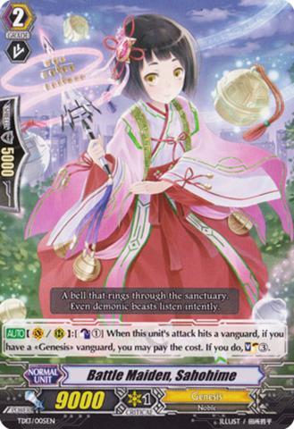 Battle Maiden, Sahohime TD13/005EN