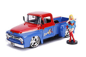 Metals Die Cast-DC Bombshells: SuperGirl and 1956 Ford F-100 Pickup