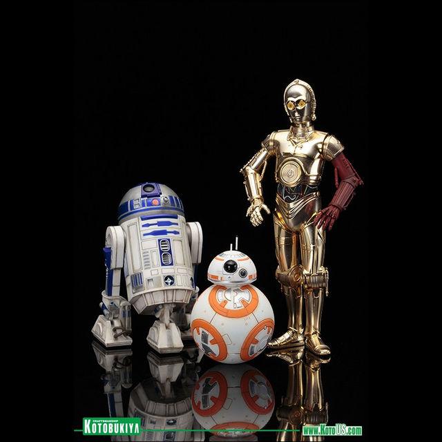 STAR WARS - 3 DROID PACK R2-D2, C-3PO & BB-8 - KOTOBUKIYA ARTFX+ STATUE