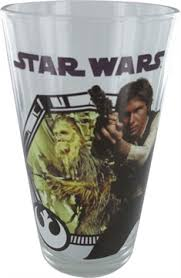 Star Wars -  Chewbacca and Han Solo Pint Glass