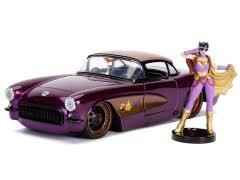 Metals Die Cast-DC Bombshells:BatGirl and 1957 Chevy Corvette