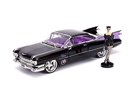 Metals Die Cast-DC Bombshells: Catwoman and 1959 Cadillac Coupe Deville