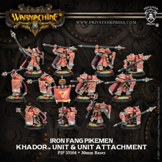 IRON FANG PIKEMEN/BLACK DRAGONS - KHADOR UNIT W/ UNIT ATTACH