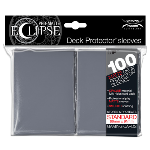 Ultra Pro - Sleeves: PRO-Matte Eclipse Standard Deck Protector Sleeves Grey