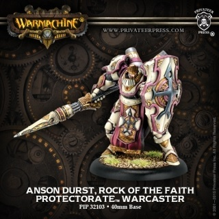 ANSON DURST ROCK OF THE FAITH PROTECTORATE PALADIN WARCASTER