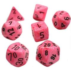 Vortex Snow Pink/black Polyhedral 7-Die Set - CHX 30031