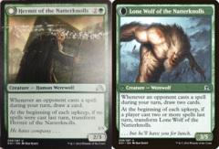 Misprint - Hermit of the Natterknolls // Lone Wolf of the Natterknolls - Shadows over Innistrad