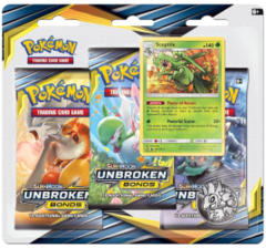 Pokemon Sun & Moon SM10 Unbroken Bonds 3-Booster Blister Pack - Sceptile Promo