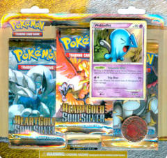 Pokemon HeartGold & SoulSilver 3-Booster Blister Pack - Wobbuffet
