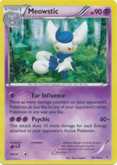 Meowstic 43/106 Cracked Ice Holo Promo - Theme Deck Exclusive