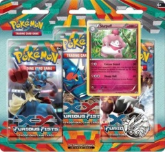 Pokemon XY3 Furious Fists 3-Booster Blister Pack - Slurpuff Promo