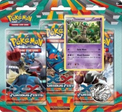 Pokemon XY3 Furious Fists 3-Booster Blister Pack - Trevenant Promo