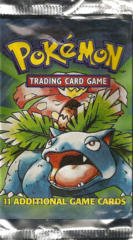 Pokemon Base Set Unlimited Edition Booster Pack - Venusaur Artwork - LONG PACK