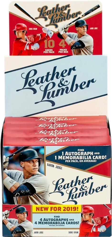 2019 Panini Leather Lumber Mlb Baseball Hobby Box Sports Cards