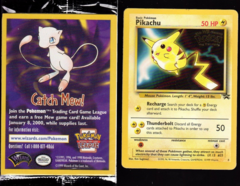 Pikachu 4 Non-Holo Gold Stamp SEALED Promo - Mewtwo Strikes Back Theatrical Release