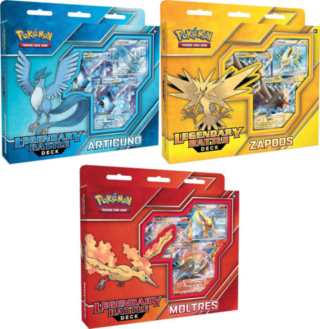 Pokemon Legendary Battle Decks: Set of 3 (Articuno, Zapdos, Moltres)