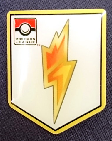 TCG Unova League Bolt Badge Pin - Nimbasa City