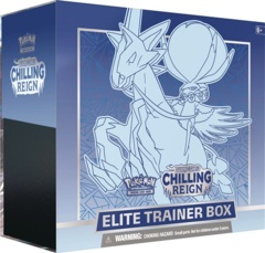 Pokemon SWSH6 Chilling Reign Elite Trainer Box - Ice Rider Calyrex (BLUE)